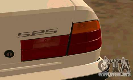 BMW 525 para GTA San Andreas vista hacia atrás