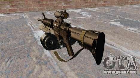 Automático carabina M4 C-Mag para GTA 4 segundos de pantalla