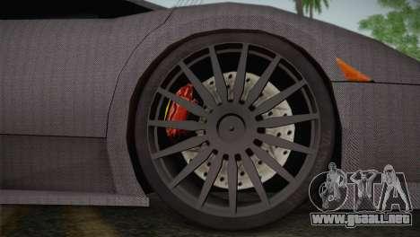 Lamborghini Murcielago GT Carbone para GTA San Andreas vista hacia atrás
