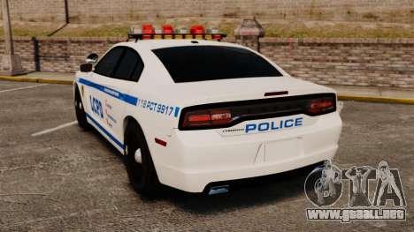Dodge Charger 2012 LCPD [ELS] para GTA 4 Vista posterior izquierda