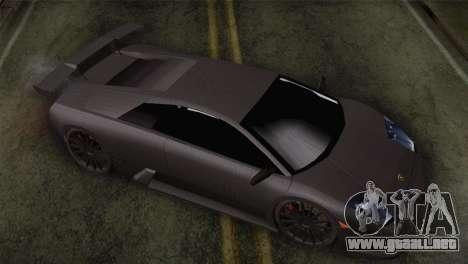 Lamborghini Murcielago GT Carbone para la visión correcta GTA San Andreas