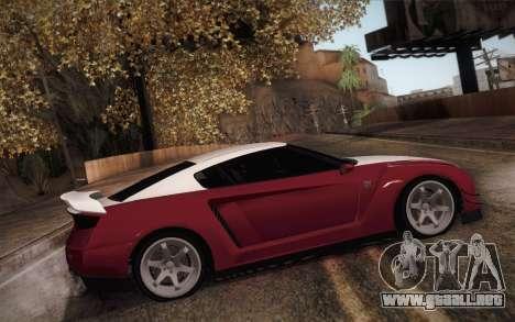 Elegy RH8 from GTA V para GTA San Andreas vista hacia atrás