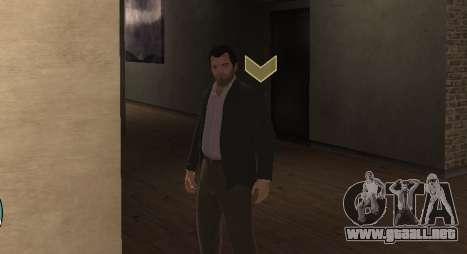 Michael De Santa from GTA V para GTA 4 adelante de pantalla