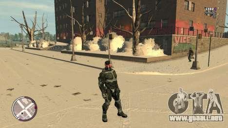 Crysis NanoSuit para GTA 4 adelante de pantalla