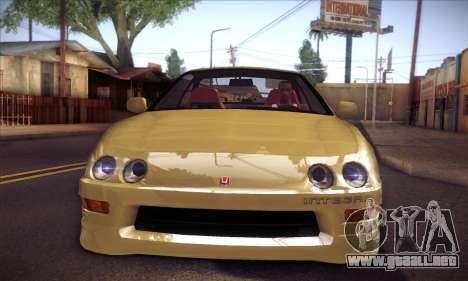 Honda Integra Drift para GTA San Andreas vista posterior izquierda