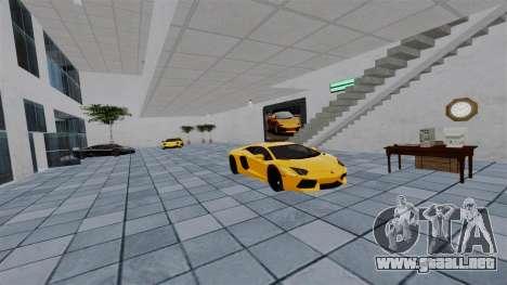 Salón del automóvil de Lamborghini para GTA 4 quinta pantalla