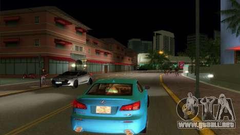 Lexus IS-F para GTA Vice City visión correcta