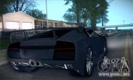 Lamborghini Murcielago GT Carbone para vista inferior GTA San Andreas