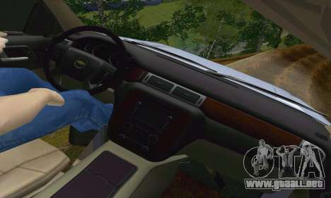 Chevrolet Suburban 2008 para la vista superior GTA San Andreas