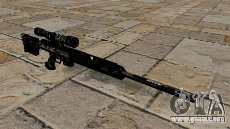Rifle de francotirador en uniformes de camuflaje para GTA 4
