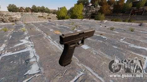 Pistola autocargable Glock 17 para GTA 4 segundos de pantalla