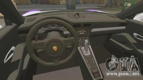 Porsche 911 Turbo 2014 [EPM] America para GTA 4 vista interior