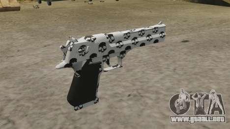 Pistola Desert Eagle cráneo para GTA 4 segundos de pantalla