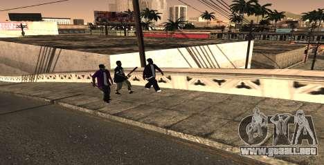 HQ SkinPack Ballas para GTA San Andreas segunda pantalla