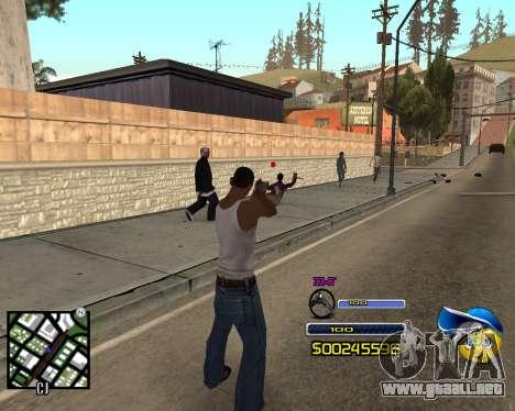 C-HUD by Alex-Castle para GTA San Andreas segunda pantalla