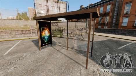 Nuevos carteles en las paradas de autobús para GTA 4 adelante de pantalla