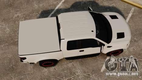 Ford SVT Raptor 2012 para GTA 4 visión correcta