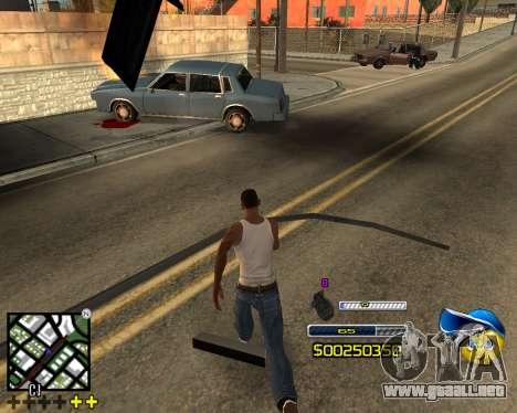 C-HUD by Alex-Castle para GTA San Andreas tercera pantalla