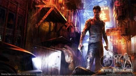 Arranque pantalla Sleeping Dogs para GTA 4 novena de pantalla