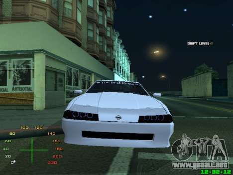 Elegy TDK-The Drift Kings para GTA San Andreas vista posterior izquierda