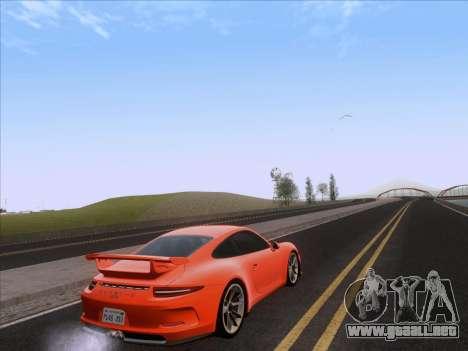 Porsche 911 GT3 2014 para GTA San Andreas vista posterior izquierda