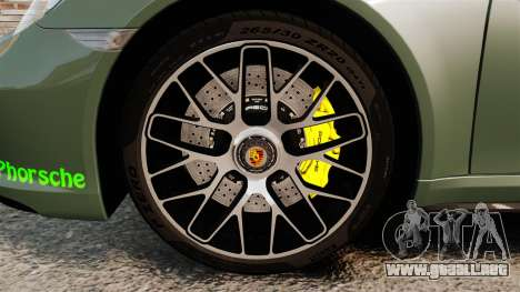 Porsche 911 Turbo 2014 [EPM] Ghosts para GTA 4 vista hacia atrás