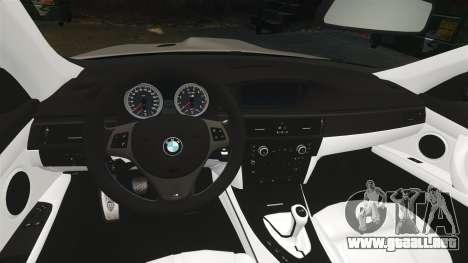 BMW M3 E92 2008 para GTA 4 vista hacia atrás