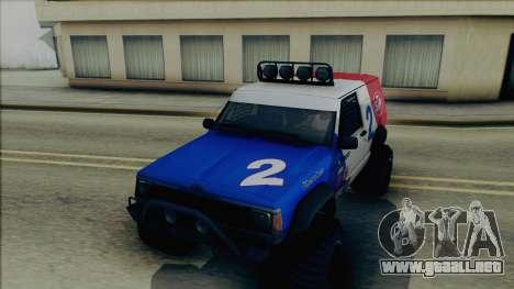 Jeep Cherokee 1984 Sandking para vista lateral GTA San Andreas