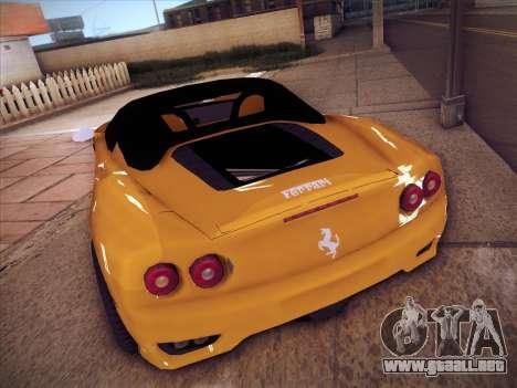 Ferrari 360 Spider para la visión correcta GTA San Andreas