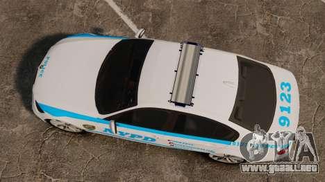 BMW 350i NYPD [ELS] para GTA 4 visión correcta
