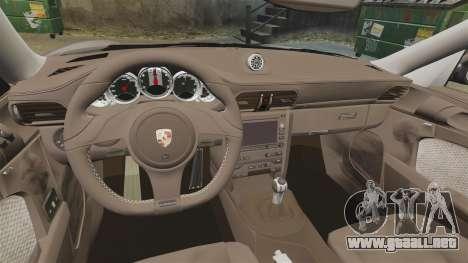 Porsche 911 Sport Classic 2010 para GTA 4 vista hacia atrás