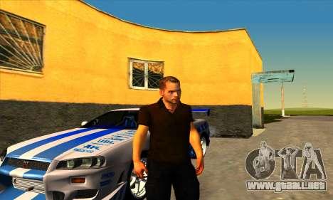 Paul Walker para GTA San Andreas segunda pantalla