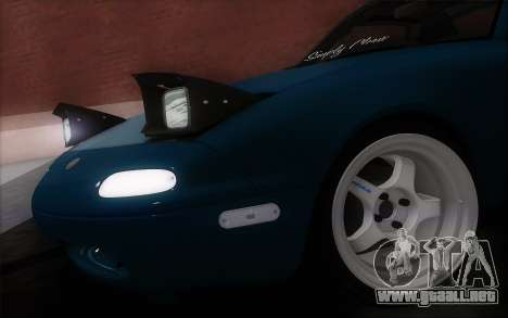 Mazda Miata para GTA San Andreas vista posterior izquierda