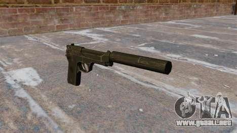 M9 autocargable pistola con silenciador para GTA 4