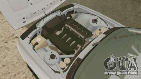 BMW M3 1990 Race version para GTA 4 vista hacia atrás