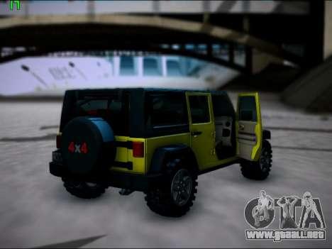 Jeep Wrangler Unlimited 2007 para la visión correcta GTA San Andreas