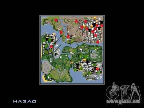 Nueva campana e iconos en el mapa para GTA San Andreas