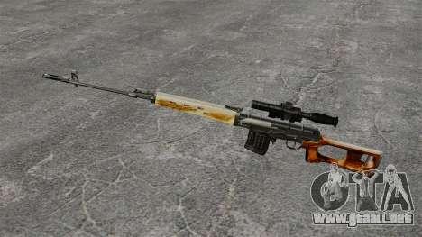 V1 de rifle de francotirador Dragunov para GTA 4 tercera pantalla