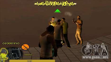 C-HUD Vagos para GTA San Andreas tercera pantalla