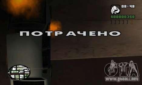 Crack gastado (FARGUS) para GTA San Andreas tercera pantalla