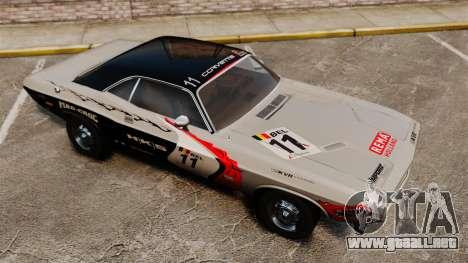 Dodge Challenger 1971 v2 para GTA 4 vista desde abajo
