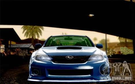 Subaru Impreza WRX STi 2011 para visión interna GTA San Andreas