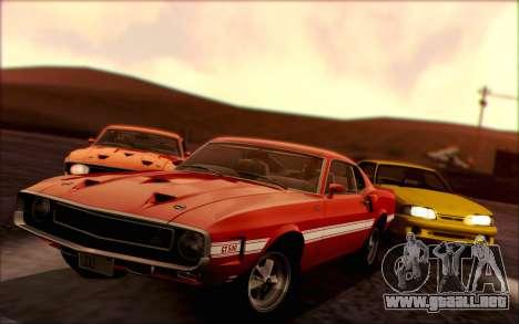Shelby GT500 428 Cobra Jet 1969 v1.1 para GTA San Andreas vista posterior izquierda