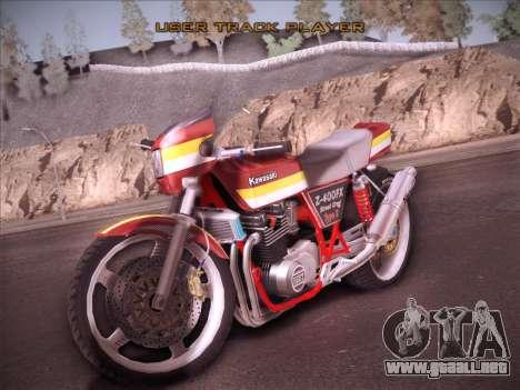 Kawasaki Z-400FX Street Drag T2 para GTA San Andreas