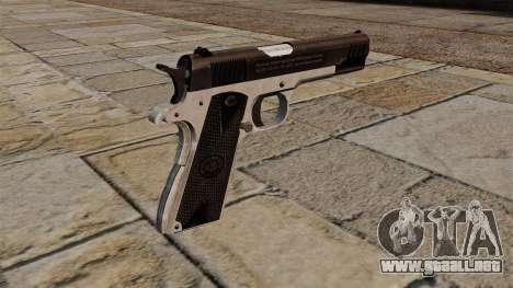 Pistola semiautomática Taurus PT1911 para GTA 4 segundos de pantalla