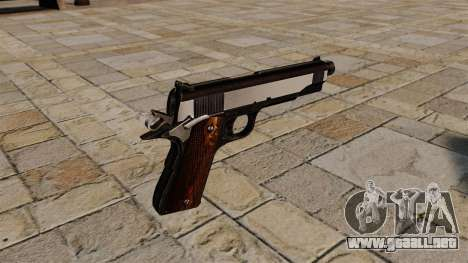 Pistola Colt 1911 Snake Eater para GTA 4 segundos de pantalla