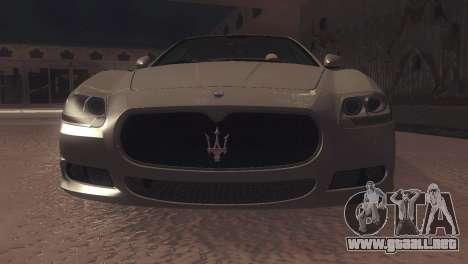 Maserati Quattroporte 2012 para GTA San Andreas left