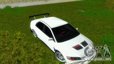 Mitsubishi Lancer Evolution VIII Type 8 para GTA Vice City vista interior