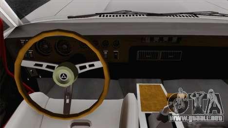 Dodge Charger 6o para GTA San Andreas vista posterior izquierda