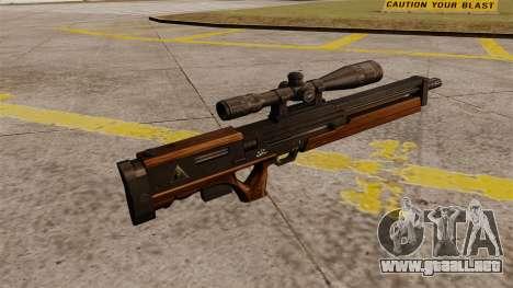 El rifle de francotirador Walther WA 2000 para GTA 4 segundos de pantalla